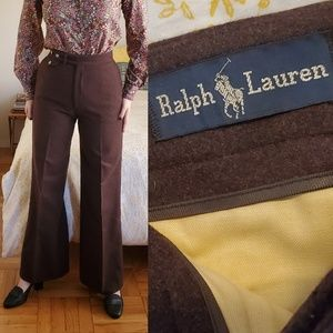 Vintage RL Wool Wide Leg High Waisted Trousers